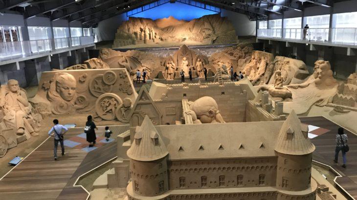 青い空、白い雲、そして砂、いや砂丘。テーマは北欧!砂の美術館はすごかった!~日本一周原付バイク旅3日目~